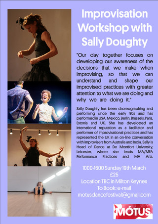 Improvisation Workshop with Sally Doughty