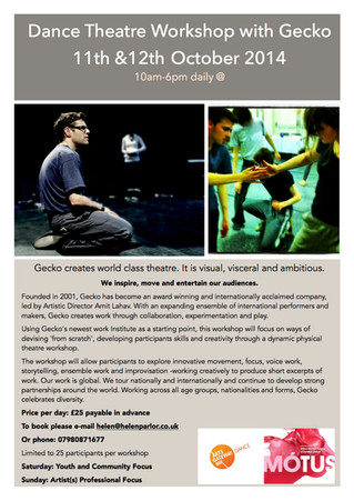 Workshops with Gecko Theatre Company