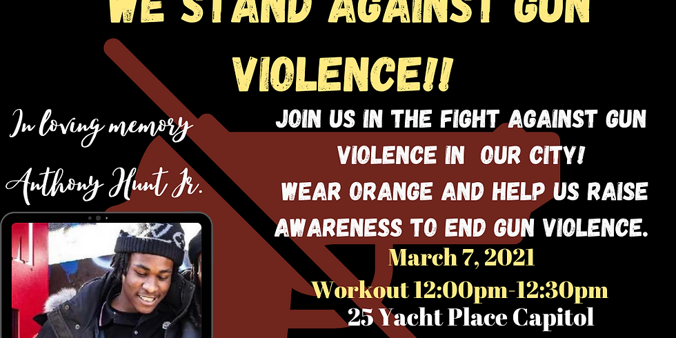 WE STAND AGAINST GUN VIOLENCE