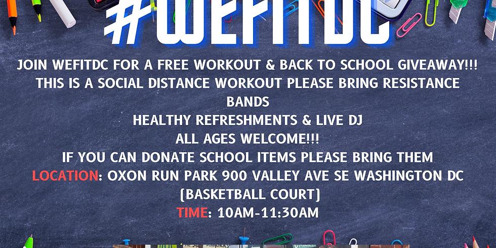WEFITDC BACK 2 SCHOOL EVENT