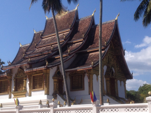 A stunning wat, or temple, in the heart of Luang Prabang, Laos