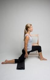 hip flexor stretch with support