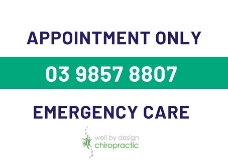 Emergency Care Available by Appointment Only