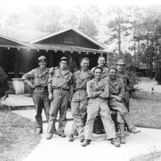 Sawmill Troops in front of CCC Lodge