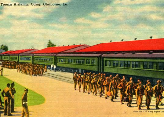 Troops arriving at Camp Claiborne.jpg