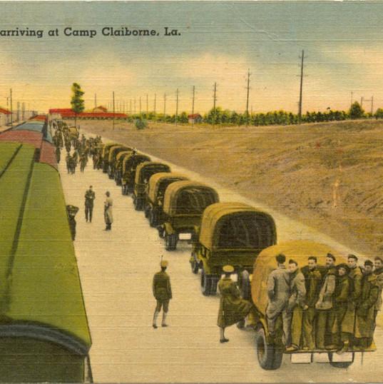 Troop train arrives