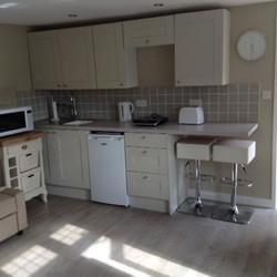 Kitchen kettle toaster, hob, fridge