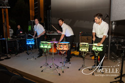 Выступление барабанщиков на дне рождения