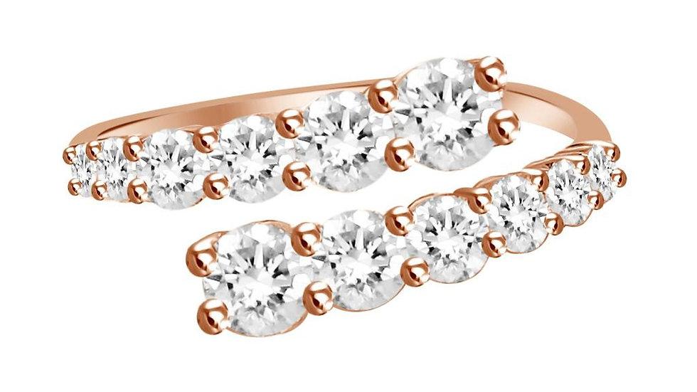 DIAMOND RING SPLIT SHANK