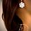 Thumbnail: Diamond Flower Earrings