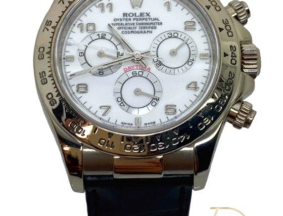 Rolex Daytona 116519 Men's White Gold 40mm Automatic