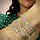Thumbnail: Snake Style Diamond Bangle