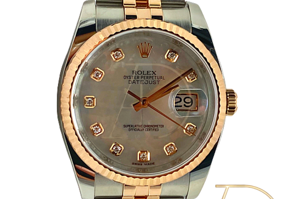 Datejust 36mm Stainless Steel and Rose Gold