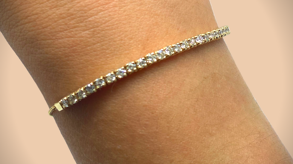 Adjustable Diamond Bracelet Yellow Gold
