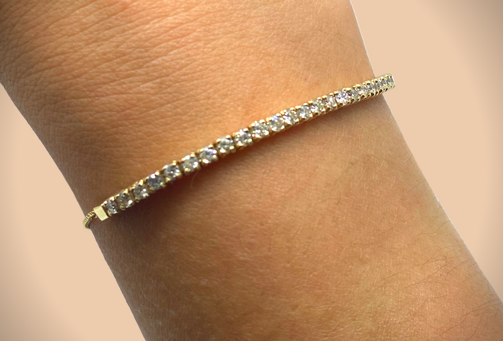 Adjustable Diamond Bracelet Yellow Gold