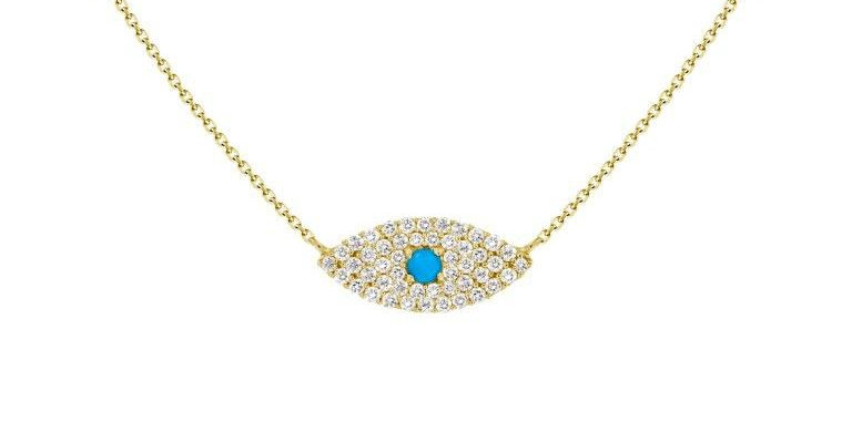 DIAMOND BLUE EYE PENDANT