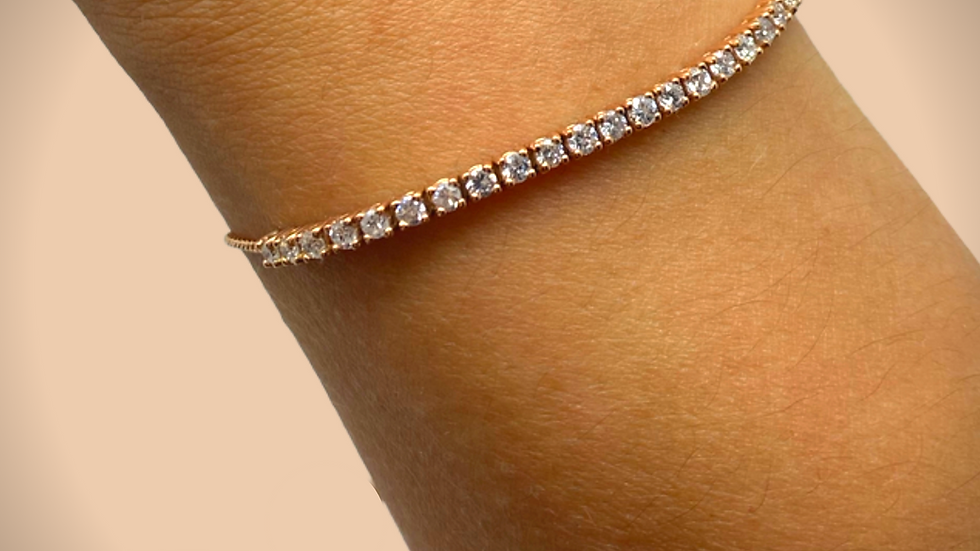 Adjustable Diamond Bracelet Rose Gold