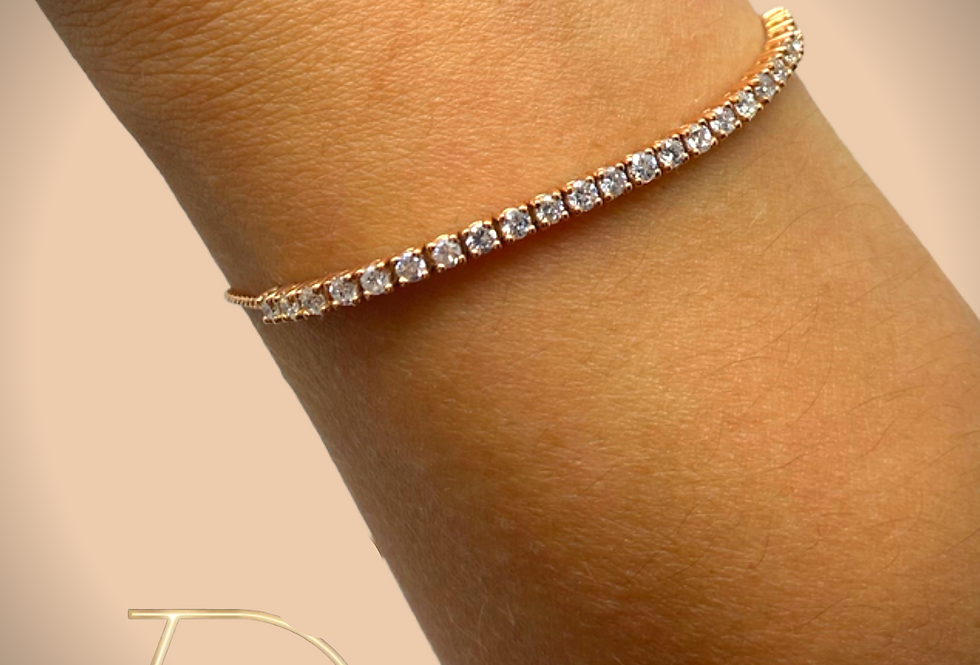 Adjustable Diamond Bracelet Rose Gold