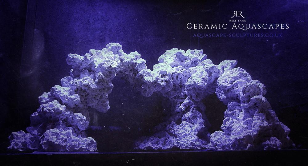 Aquascape Sculpture Made From Ceramic Reef Rock