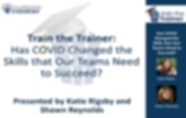 Train the Trainer Webinar-COVID Skills