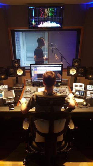 Snemanje zmagovalne skladbice