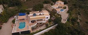 Aerial view of holiday villa