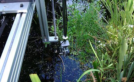Remote GoPro camera in pond