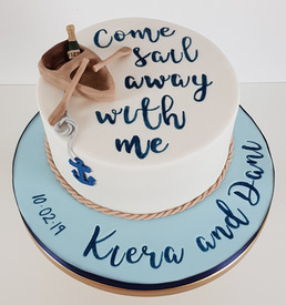 Sail Away with Me - Engangement Cake