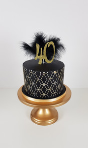 40th Birthday - Gatsby Themed Cake