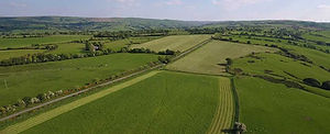 Aerial view of farming landscape