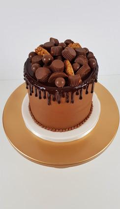 Birthday Cake - Peanut Butter Chocolate Drip Cake