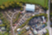 Aerial view of industrial site