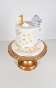 1st Birthday Cake - Fishing for Stars