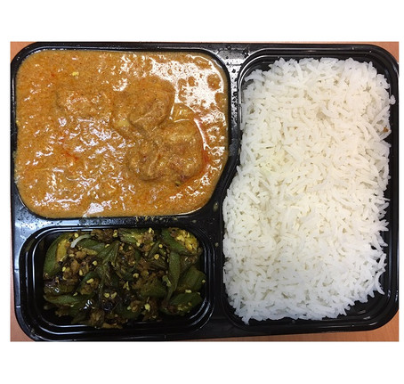Butter Chicken Meal $ 9.00
