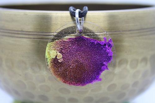 Yellow & Purple Ink Splash