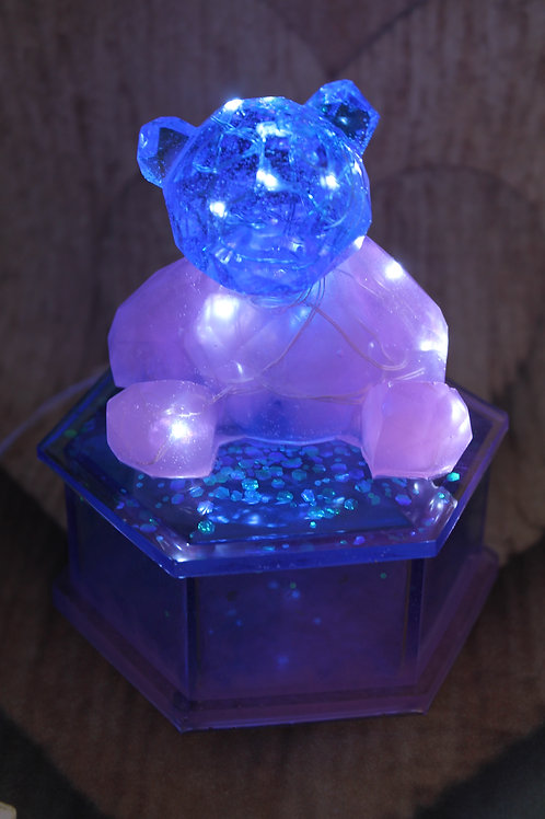 Pink and Blue Glowy Bear Jewelry Box