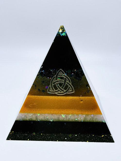Black & Gold Pyramid