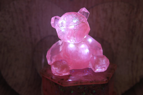Pink and Peridot Glowy Bear Jewelry Box