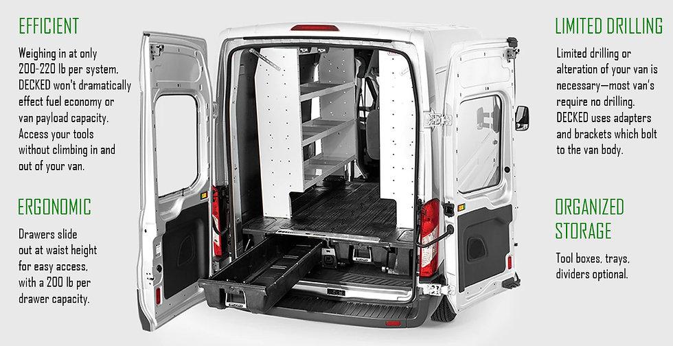 Decked van feature