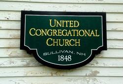 Gold Leaf Church Sign