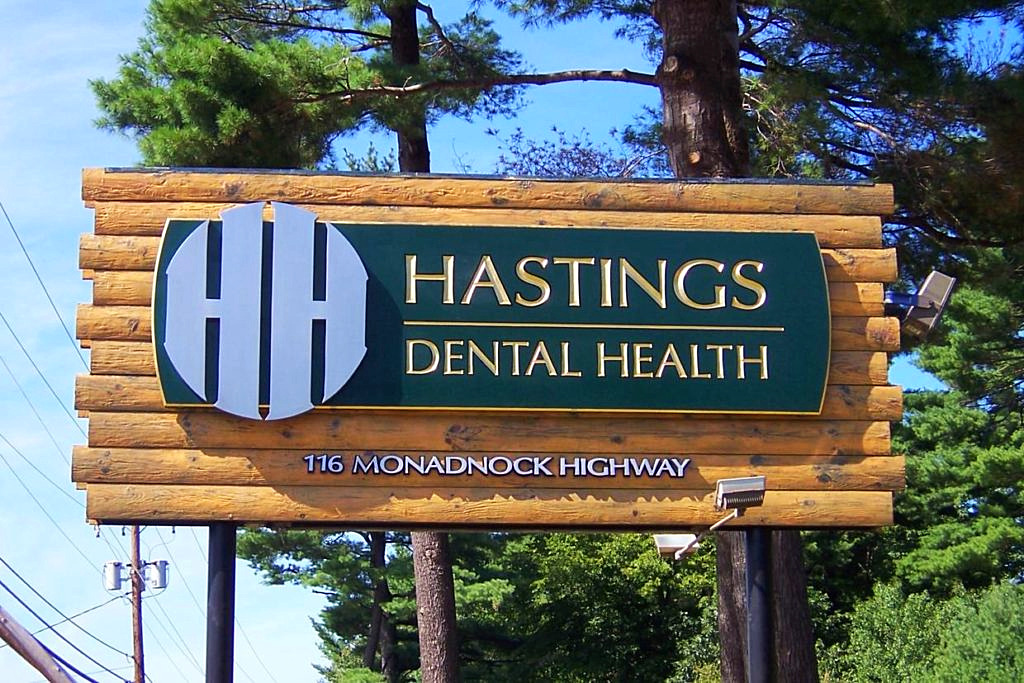 Large dental health sign New Hampshi