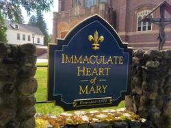 Gold Leaf Hand Carved Church Sign