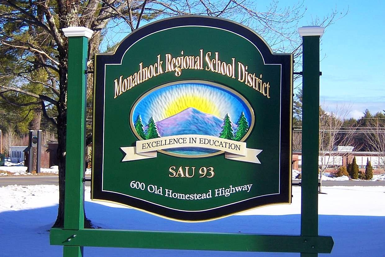 Hand Painted Municipal Sign NH