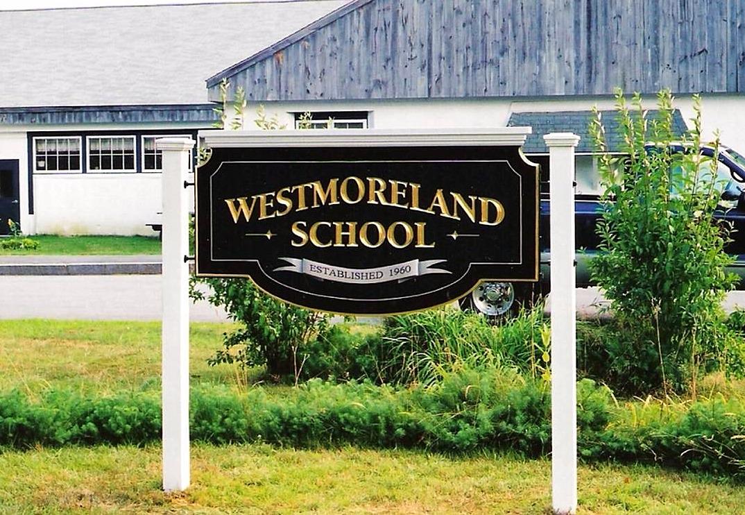Hand Carved School Sign Westmoreland