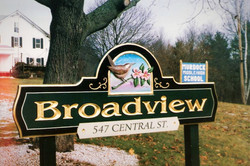 Hand Carved Development Sign