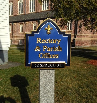 Hand Carved Church Sign