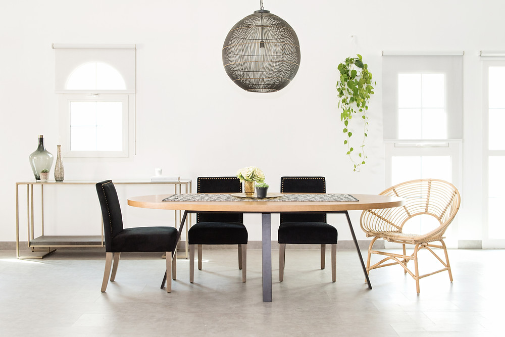 Accessories and furniture from Home and Soul and White Moss : Circle of Life Rattan Chair