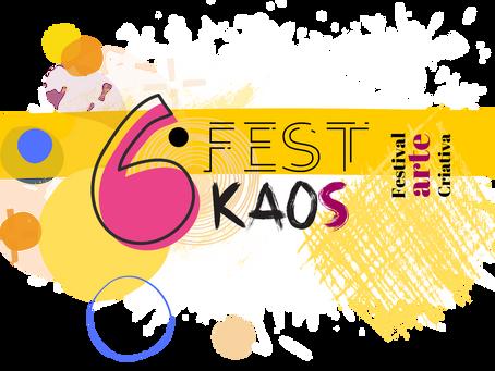Agora Festival de Arte Criativa, 6º FestKaos abre inscrições até dia 19