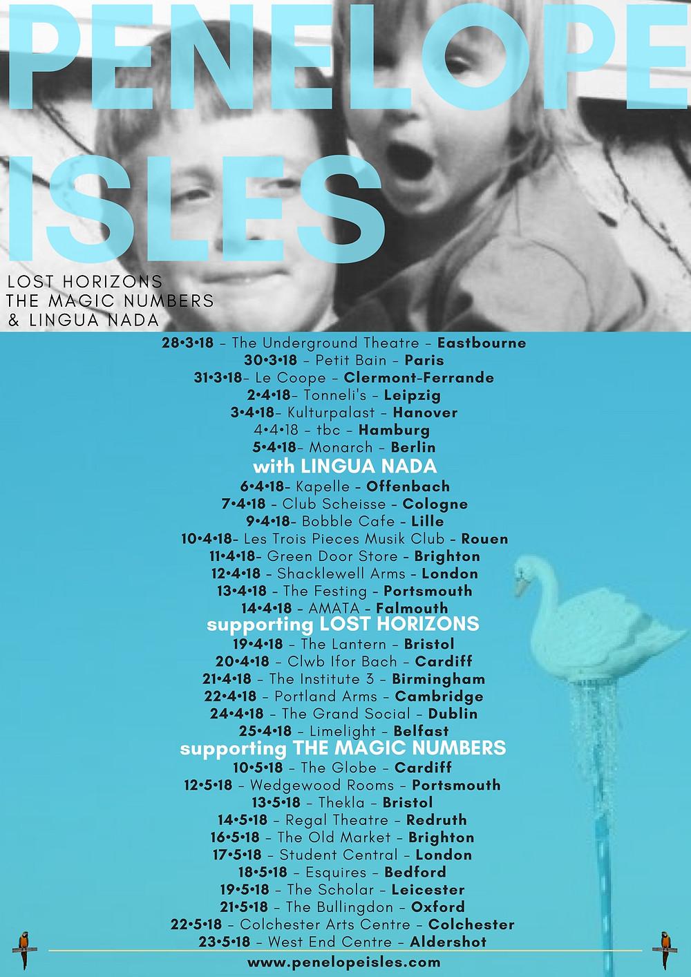 Penelope Isles Spring Tour Dates