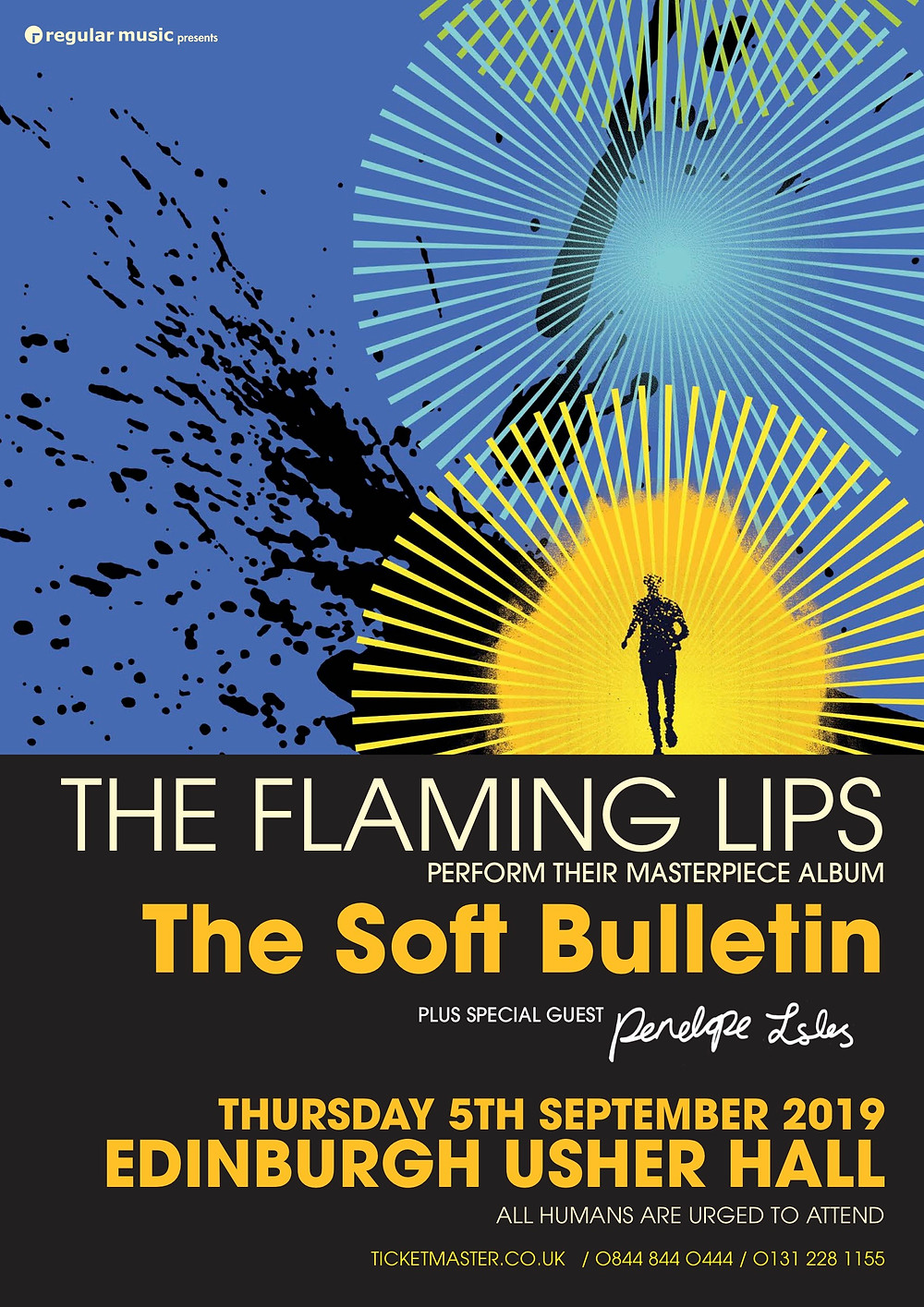 The Flaming Lips w Penelope Isles. Usher Hall 5th Sept 2019